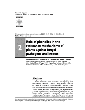 role of phenolics in the resistance mechanisms of plants against fungal pathogens and insects form