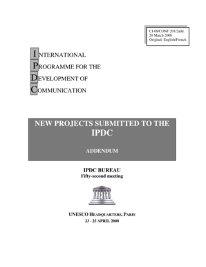 NEW PROJECTS SUBMITTED TO THE IPDC ... - UNESCO - unesco