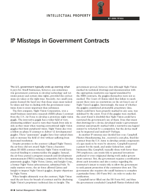 IP Missteps in Government Contracts - ncmahq
