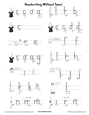 graphic about Handwriting Without Tears Printable identified as Hwt Chart Of Print Lessen Scenario Letters - Fill On the internet