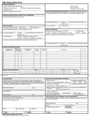 ada dental claim form Ada Dental Claim Form Instructions - Fill Online, Printable ...