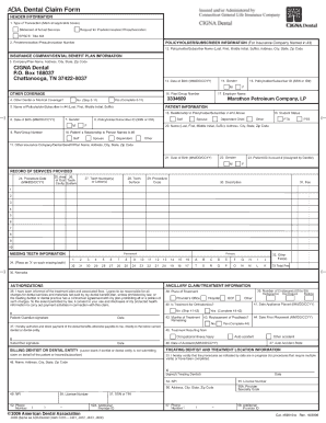 Cigna Dental Insurance Claim Form - Fill Online, Printable ...
