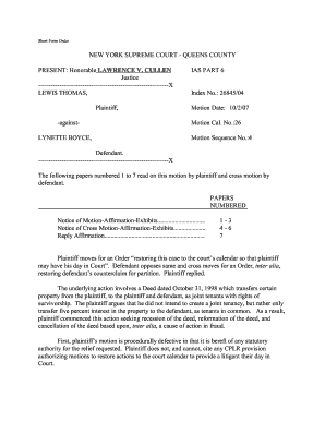 ny supreme court queens county motions pdf form