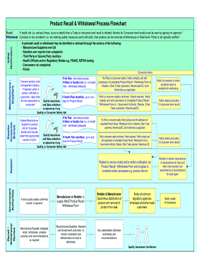 recall procedure flow chart form