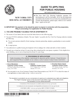 apply for nyc housing - PDFfiller