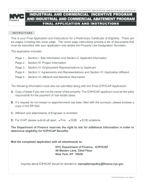 icap application form