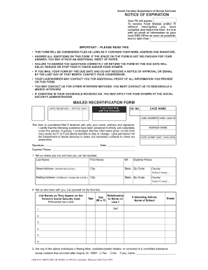 Ct Food Stamps Redetermination Form