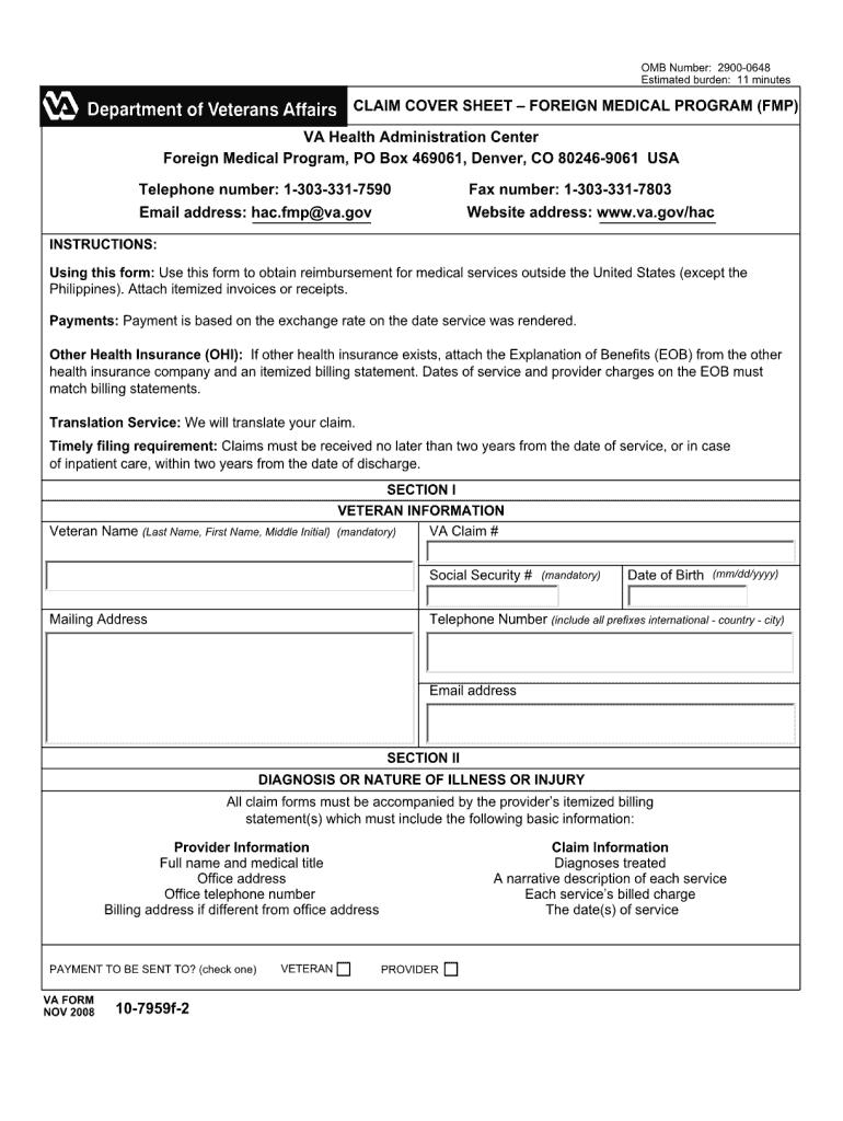 2008 Form VA 10-7959f-2 Fill Online, Printable, Fillable ...