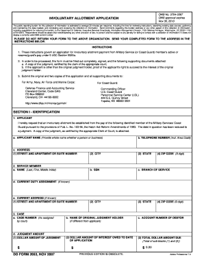 Involuntary Allotment Application - Fill Online, Printable ...