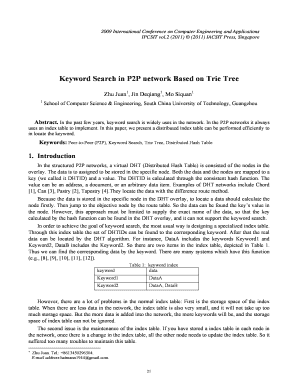 Keyword Search in P2P network Based on Trie Tree - IPCSIT