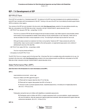 2012 2018 form oh pr 07 iep fill online printable fillable blank ohio iep form saigontimesfo