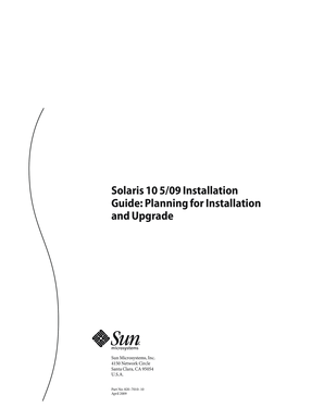 Solaris 10 509 Installation Guide Planning for Installation and Upgrade