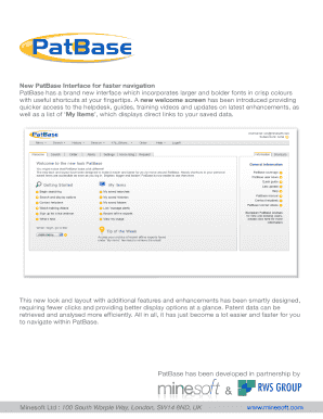 New PatBase Interface for faster navigation PatBase has a brand ...