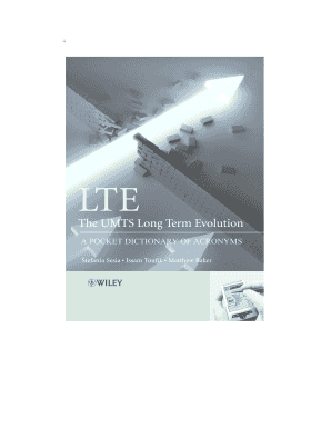 lte the umts long term evolution a pocket dictionary of acronyms form
