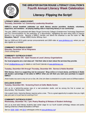 Fourth Annual Literacy Week Celebration Literacy- Flipping the Script! - gbrliteracy