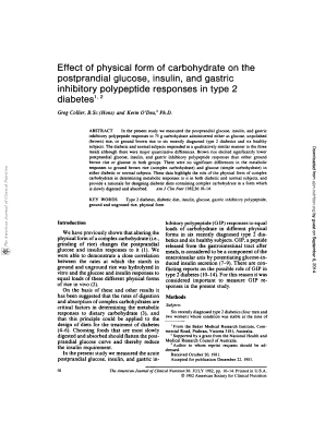 Effect of physical form of carbohydrate on the postprandial glucose ... - ajcn