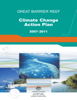 great barrier reef climate change action plan form
