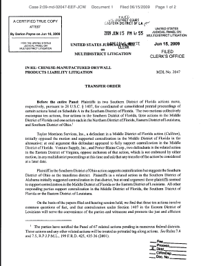 Case 2:09-md-02047-EEF-JCW Document 1 Filed 06/15/2009 Page ... - laed uscourts