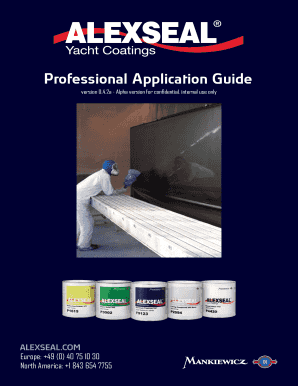 alexseal application guide form