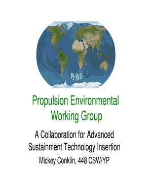 2011 propulsion environmental working group form