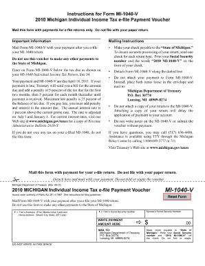 Mi 1040 V 2011 - Fill Online, Printable, Fillable, Blank   PDFfiller