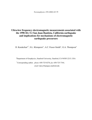 Ultra-low frequency electromagnetic measurements associated with ... - geomaps wr usgs