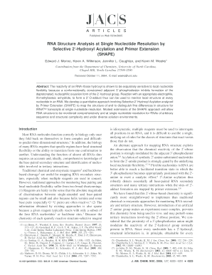 RNA Structure Analysis at Single Nucleotide Resolution by - Chemistry - chemistry creighton