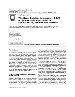 The Gene Ontology Annotation (GOA) project application of GO in ... - ncbi nlm nih