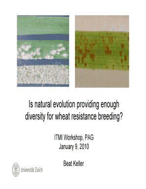 Is natural evolution providing enough diversity for wheat resistance ... - wheat pw usda