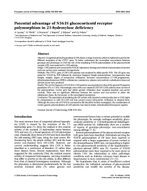 Potential advantage of N363S glucocorticoid receptor polymorphism in - eje-online