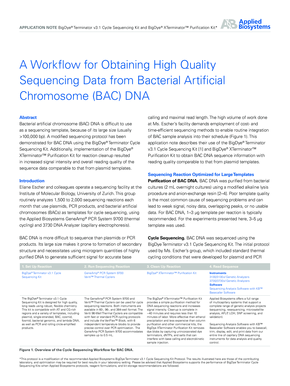 A Workflow for Obtaining High Quality ... - Applied Biosystems