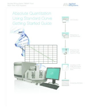 Absolute Quantitation Using Standard Curve - Applied Biosystems