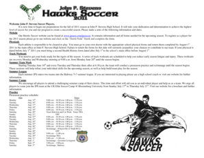 John P. Stevens Soccer Players, It is now time to begin ... - Jpsaos .com
