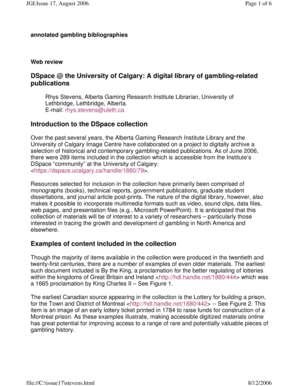 DSpace the University of Calgary: A digital library of gambling ... - uleth