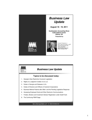 Business Law Update - gscpa