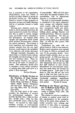 1474 NOVEMBER 1954 AMERICAN JOURNAL OF' PUBLIC HEALTH tion is presented on the organization, administration, scope and volume of services provided, method of paying for physician's services, etc - ncbi nlm nih