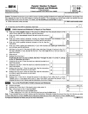 irs fillable form for 8814 2011
