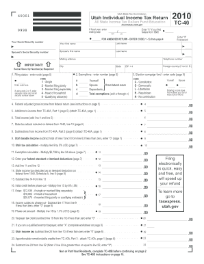 Tc 40 Amended Return Code - Fill Online, Printable, Fillable ...