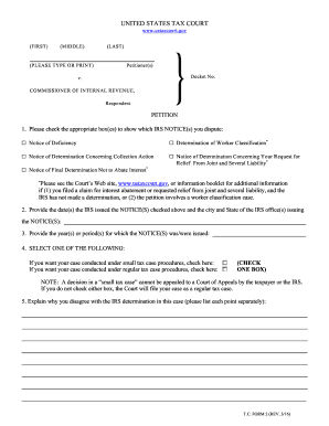 petition form