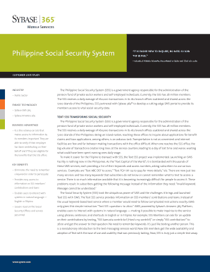 Case Study About Social Security System In The Philippines