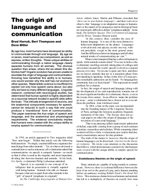 the origin of language and communicationbybrad harrub phd bert thompson phd and dave miller phd form