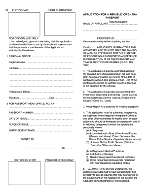 Sample Of A Filled Ghanaian Passport Form I 751