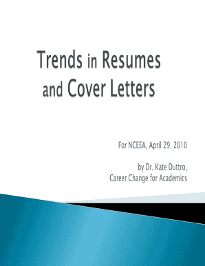 Resumes and Job Search - Career Change for Academics