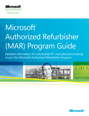Microsoft Authorized Refurbisher ( MAR ) Program Guide