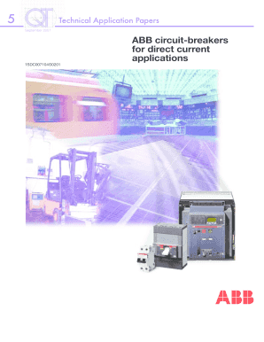 ABB circuit-breakers for direct current applications