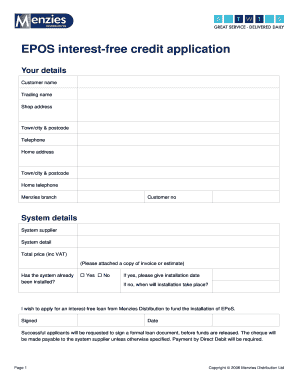 EPOS interest-free credit application - EM News Distribution