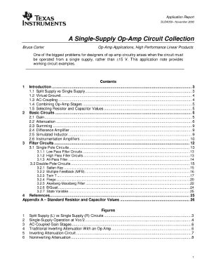 a simgle supply op amp circuit collection form