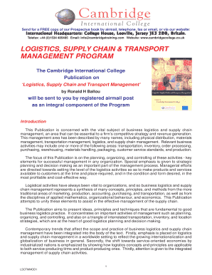 Business Logistics Supply Chain Management Ballou Pdf