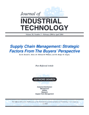 Supply Chain Management: Strategic Factors From The Buyers ...