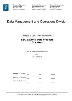 ESO External Data Products Standard - eso